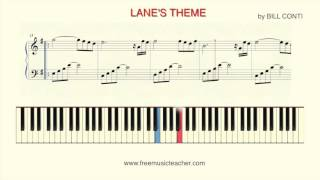 "How To Play Piano:  ""Lane's Theme"" by William Bill Conti"