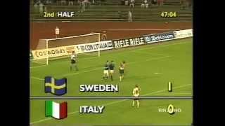 Svezia-ITALIA Under 21 1-0 - Växjö, 3 giugno 1992 - Finale/Ritorno (telecronaca secondo tempo)