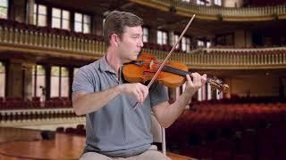 """Kreisler cadenza for Beethoven violin concerto, 3rd mvt: 1716 Stradivari """"ex-Milstein"""""""