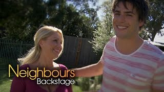 James Mason (Chris) & Melissa Bell (Lucy) - Neighbours Backstage