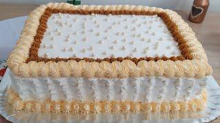 Bolo Médio para 30 pessoas   Bolo de Doce de leite com Ameixa Delicioso   Bolo de Aniversário