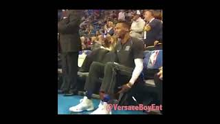 Russell WestBrook dancing to Jaden Smith Icon