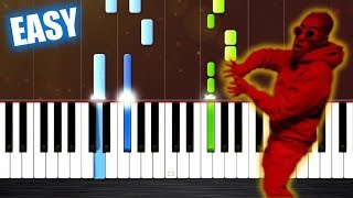 Te Bote Remix - EASY Piano Tutorial by PlutaX