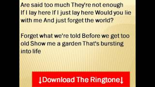 Snow Patrol - Chasing Cars Lyrics
