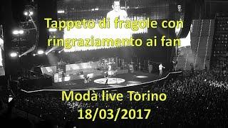 Modà Tappeto di fragole e discorso ai fan live Torino 18/03/2017