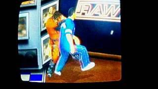 SVR07 Masked Kane VS Shane McMahon (Bar Brawl)