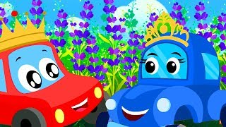 Little Red Car Rhymes | Lavender's Blue Dilly Dilly | Cartoon Videos For Kids