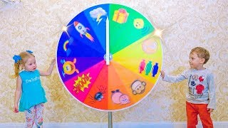 Magic wheel and funny kids Magical incidents Video for kids