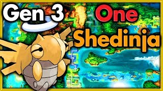 Can I Beat Pokemon Emerald With ONLY One Shedinja? 🔴 Pokemon Challenges ► NO ITEMS IN BATTLE