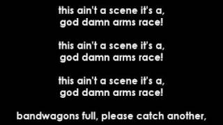 fall out boy - this ain't a scene it's an arms race (lyrics)