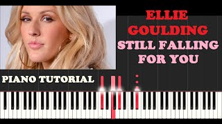 Ellie Goulding (Jonas Blue Version slowed) - Still Falling For You (Piano Tutorial With Synthesia)
