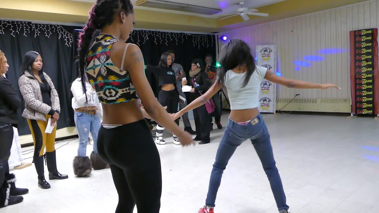 WALACAMTV.COM ITS ON! -Taty vs. Nesha -HIP ROLL BATTLE @ Da WarZone !