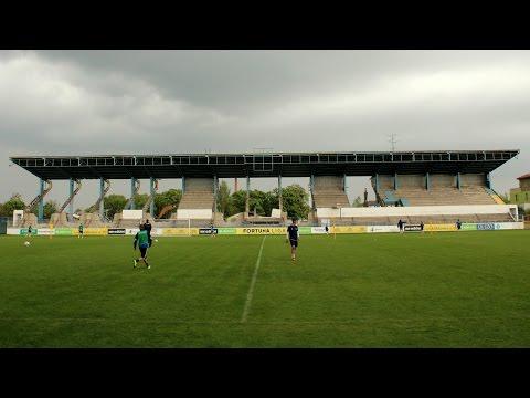 Štadión FC DAC - Búranie východnej tribúny