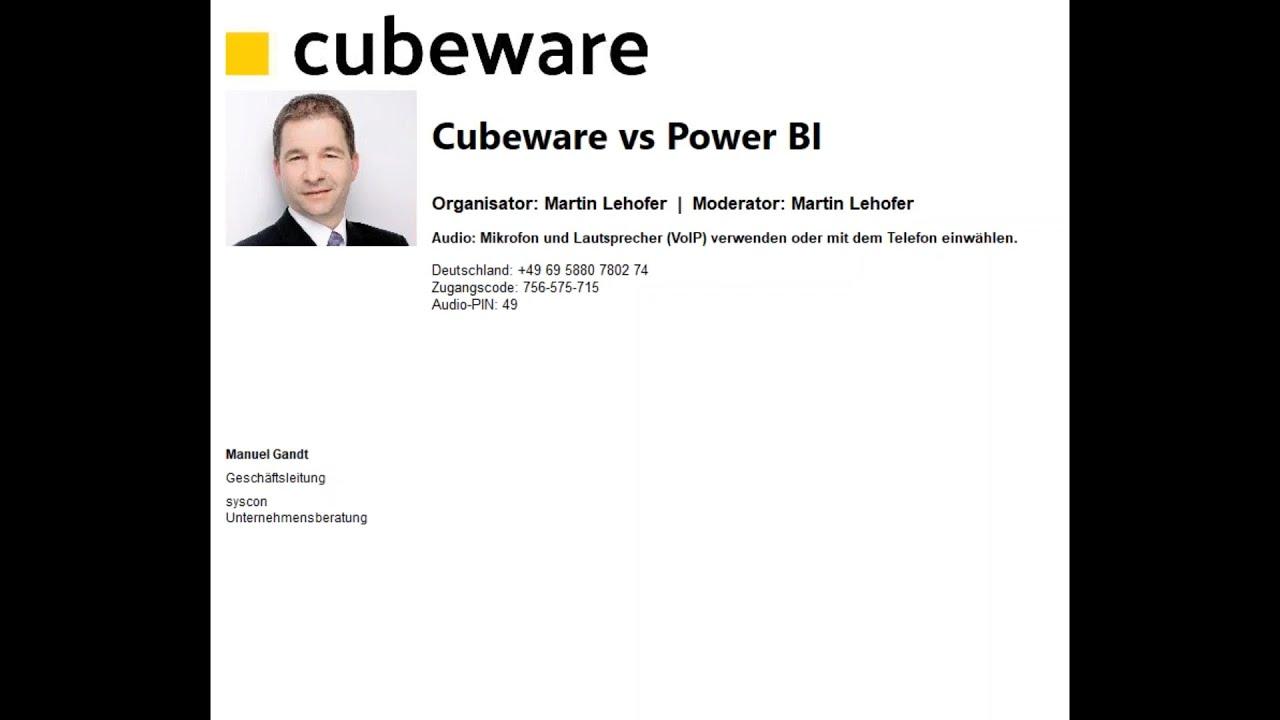 Cubeware vs Power BI
