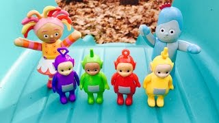TELETUBBIES and IN THE NIGHT GARDEN Toys Frozen Slide Ride!