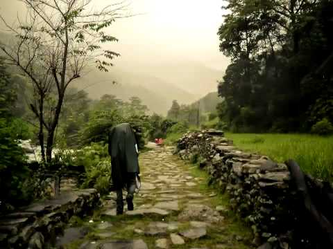 Trekking in Nepal, Pokhara to Poon Hill and back, stop motion video