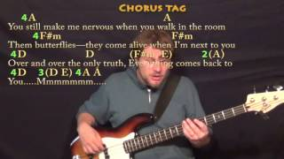 This Town (Niall Horan) Bass Guitar Cover Lesson in A with Chords/Lyrics