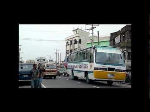 Road transport in Goala Bazaar,Balagonj,Bangladesh