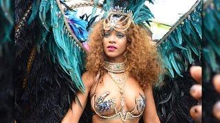 Rihanna Twerks in Bikini at Barbados Carnival