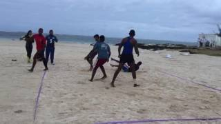 Beach Kabaddi training at LUX* Hotel Belle Mare Mauritius (Men)