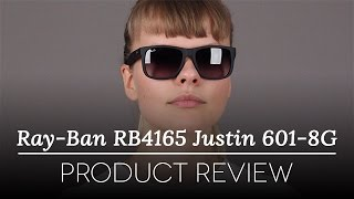 25657d396c8 Ray-Ban RB4165 Justin 601 8G Sunglasses Black