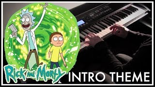 Rick and Morty - Intro Theme Piano Style Cover