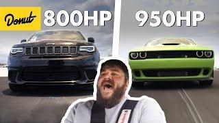 1750 Horsepower Combined! Jeep TrackHawk & Dodge Hellcat | The New Car Show