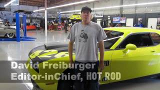 HOT ROD's David Freiburger with the 1320 426 Dodge Challenge