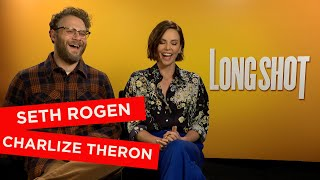 Seth Rogen and Charlize Theron talk meeting their idols, hiding their identities and scary moments!