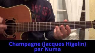 Champagne (Jacques Higelin) Reprise à la guitare