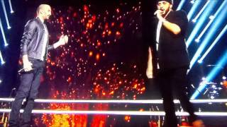 "The Voice battle Slimane vs François "" The show must go on """