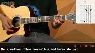 Videoaula Olhos Vermelhos (aula de violão)