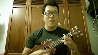 James Arthur - Naked ( lyrics ) cover by The Uke Player