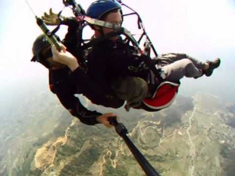 Paragliding near Pokhara Nepal