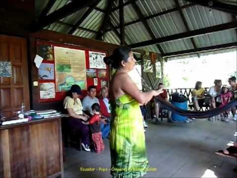 2012 Ecuador   Puyo, Parque EtnoBotanico Omaere, Welcome, les Indiens Shuars