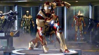 Iron Man 3 - Mark 42 Suit Up Scene - Movie CLIP HD