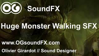 Giant Monster Walking and Growling Sound Effect
