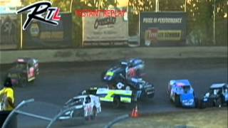 Racetracks Live at Willamette Speedway Live Replay Dustin Cady Roll Over
