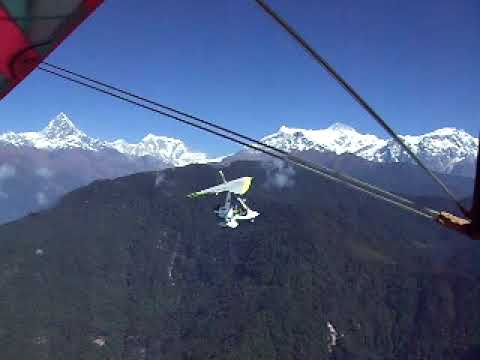 In Nepal, Mountain Flight by Engine Glider