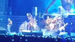 Iron maiden eddie  on stage in Denver