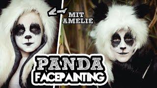 Cute PANDA Facepanting mit AMELIE || FACEPAINTING