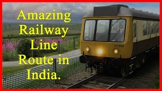 Amazing Railway Line Route in India.