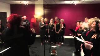 Voice to Voice choir at The Big Red Studios
