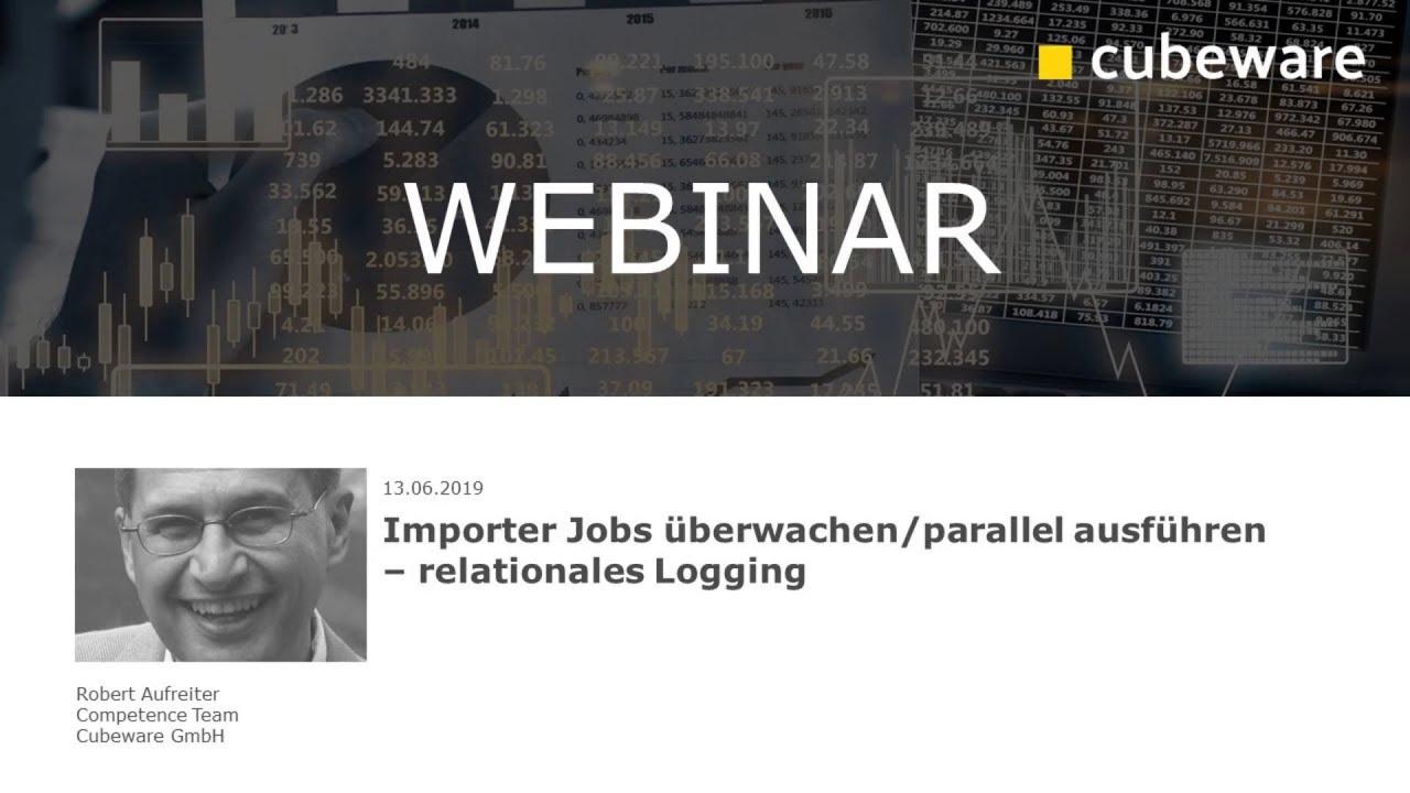Importer-Jobs überwachen/parallel ausführen – relationales Logging