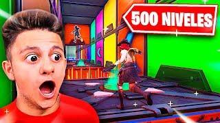 ¡EL PARKOUR DE 500 NIVELES! *Minijuego Fortnite* - Ampeter
