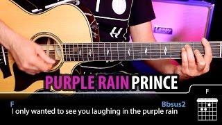Purple Rain Acordes de guitarra | Demo Tutorial Cover