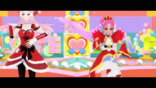 [MMD] Cure Passion and Cure Scarlet - Happy Synthesiser