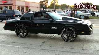 "ALL BLACK 87 Monte Carlo SS TUCKING 26"" Forgiatos - 1080p HD"
