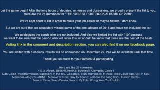 25 Nominees For The Top 10 Post-Rock Album of 2016