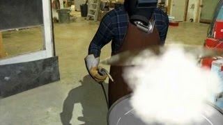 Drum Explodes During Welding, Killing Worker